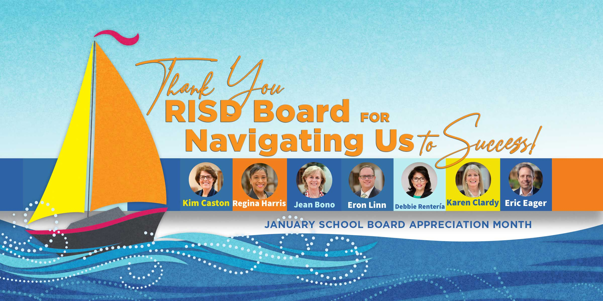 Thank you RISD board to navigating us to success, January school board appreciation month