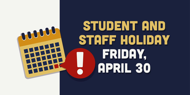 No school April 30