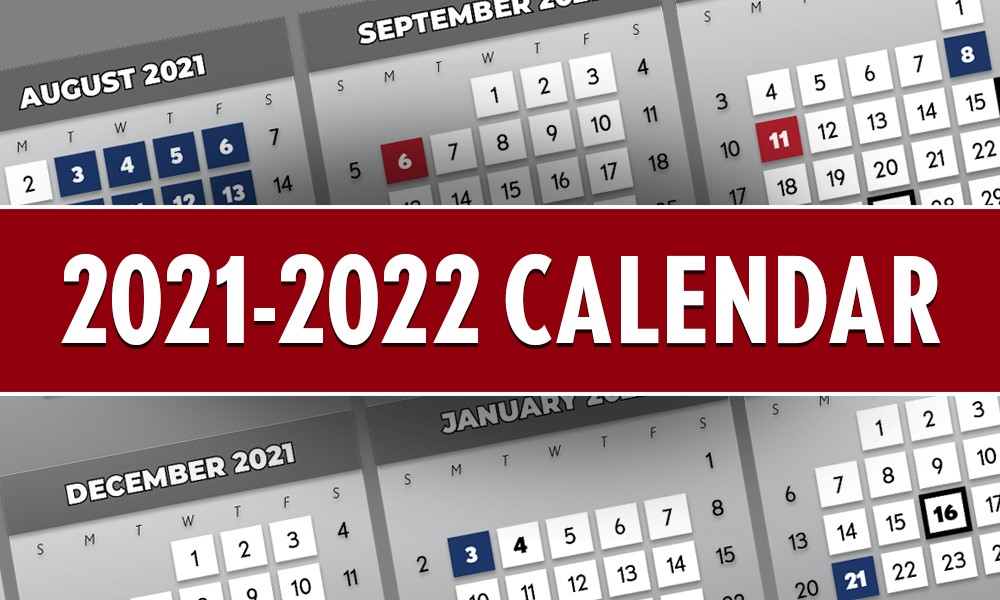 Partial image of the 2021-22 calendar
